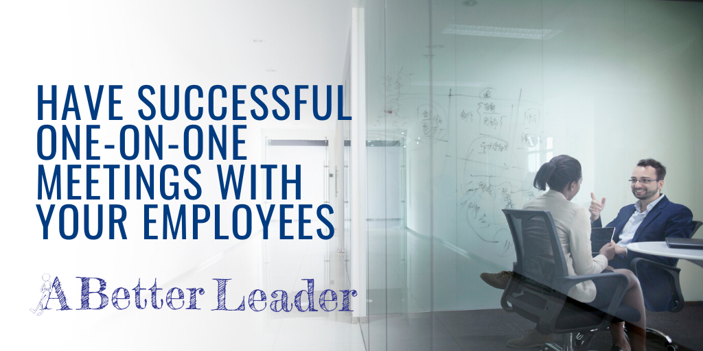 have successful one-on-ones with your employees billboard