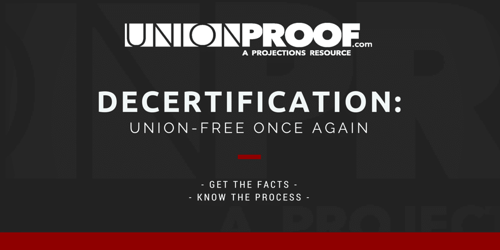 Decertifying a union