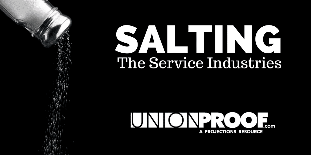Union Salting in Service Industries