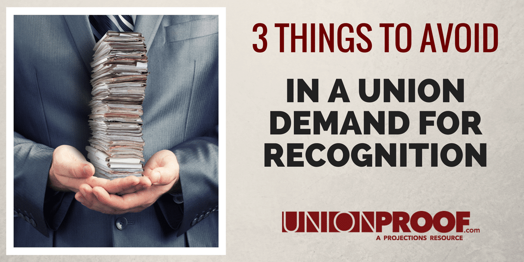 union demand for recognition