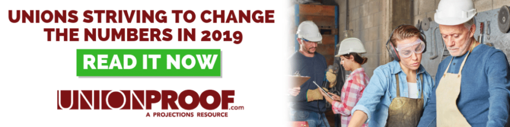 Unions are striving to change the numbers in 2019.