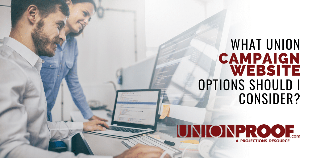 what union campaign website options should I consider