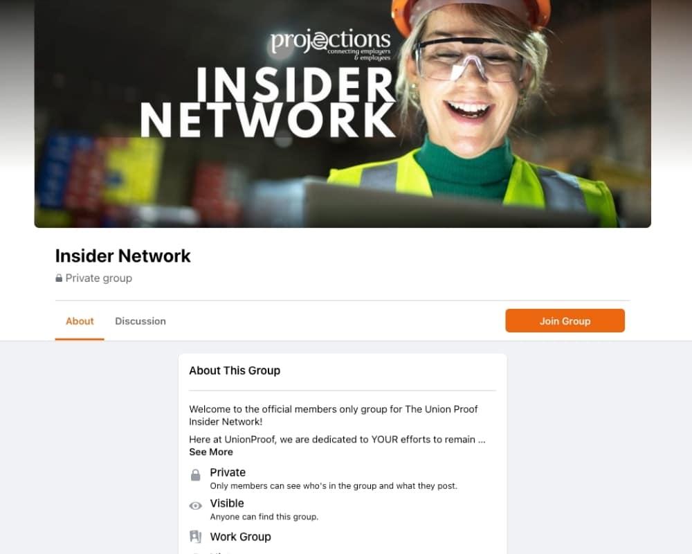 UnionProof Certification Facebook Group