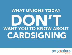 Union Card Signing