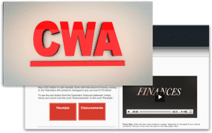 cwa video website for employees