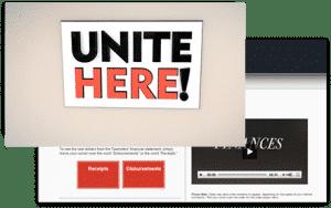 UNITE HERE video website