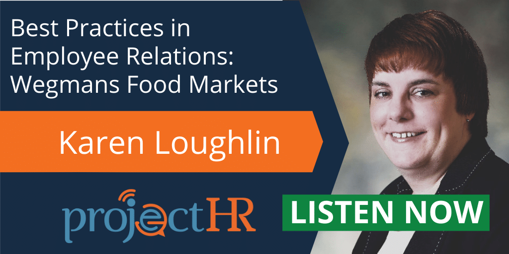 Podcast episode on best practices in employee relations with Karen Loughlin