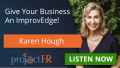 Podcast episode on teamwork in the workplace with Karen Hough