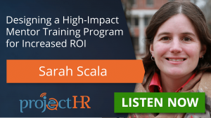 Podcast episode on mentorship programs with Sarah Scala
