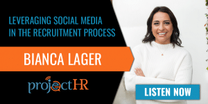 Podcast episode on social media in recruiting with Bianca Lager