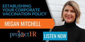 podcast episode on corporate vaccination policy with Megan Mitchell