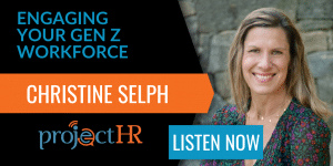 podcast episode on gen z in the workplace with chrstine selph